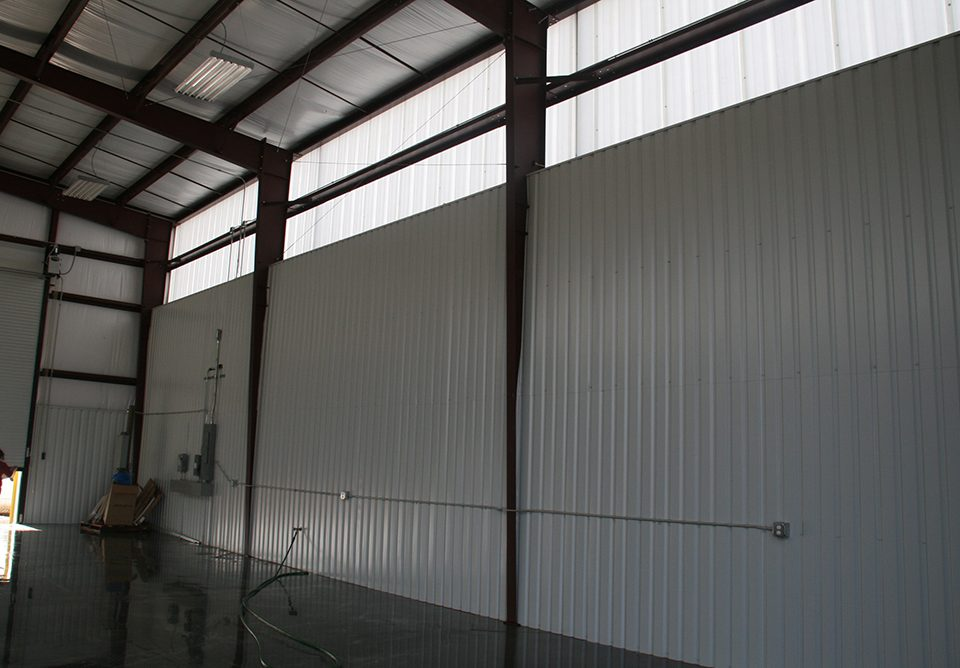 The inside of the Waste Management building